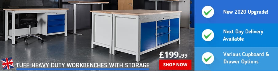 Shop our New TUFF Workbenches with Storage