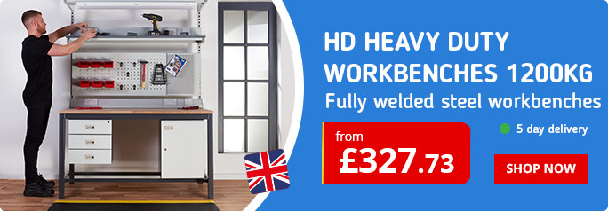 Shop our Heavy Duty Workbenches with huge load capacities