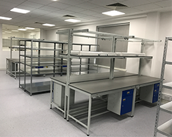 Square Tube Workbench Installation by Workplace Products